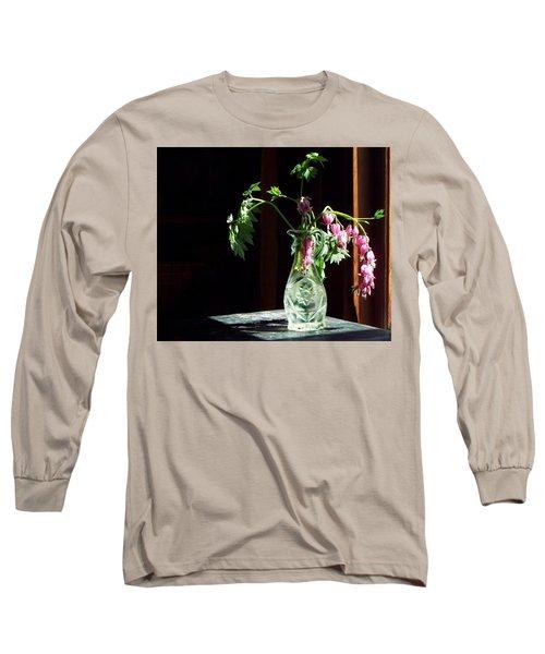 Bleeding Heart Bouquet Long Sleeve T-Shirt by Joy Nichols