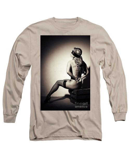Blindfolded And Handcuffed Long Sleeve T-Shirt