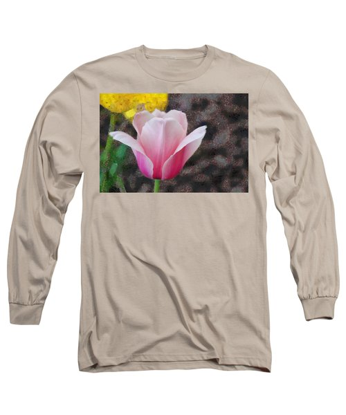 Long Sleeve T-Shirt featuring the mixed media Bloomin' by Trish Tritz