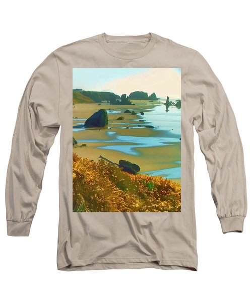 Blooming Bandon Watercolor Long Sleeve T-Shirt by Wendy McKennon