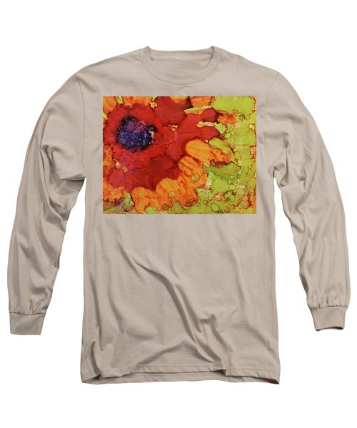 Blooming Cactus Long Sleeve T-Shirt by Cynthia Powell