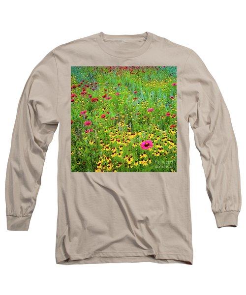 Blooming Wildflowers Long Sleeve T-Shirt