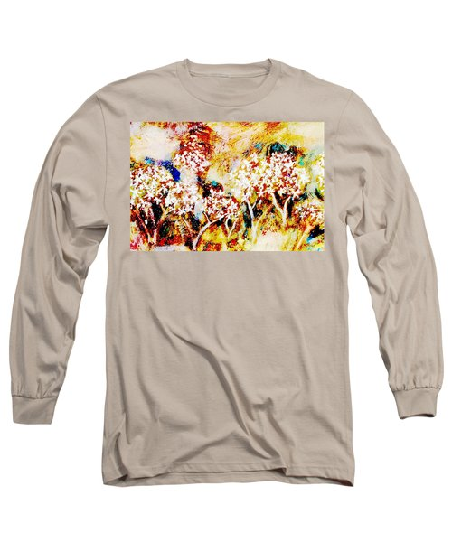 Long Sleeve T-Shirt featuring the painting Blossom Morning by Winsome Gunning