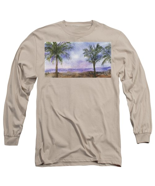 Long Sleeve T-Shirt featuring the painting Blowing By The Ocean by Vicki  Housel