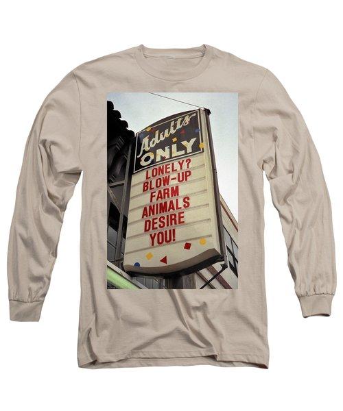 Blowup Farm Animals Sign Long Sleeve T-Shirt