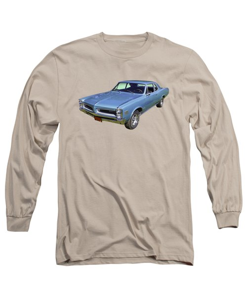 Blue 1966 Pointiac Lemans Long Sleeve T-Shirt