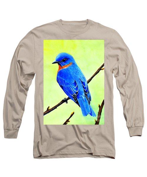 Blue Bird King Long Sleeve T-Shirt