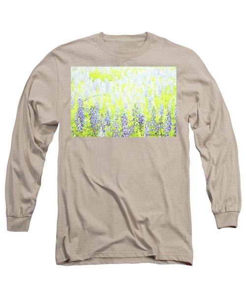 Blue Bonnet Impressions II Long Sleeve T-Shirt by Carolina Liechtenstein