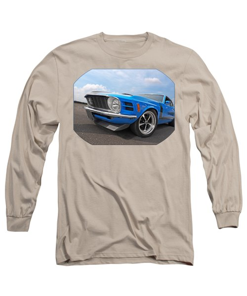 Blue Boss Mustang  Long Sleeve T-Shirt
