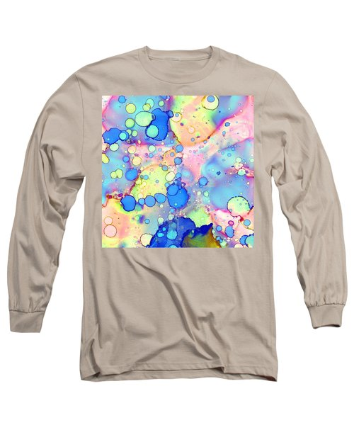 Blue Bubble Gum Pop Long Sleeve T-Shirt by Patricia Lintner