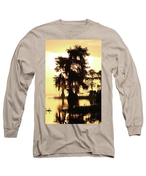 Blue Cypress Yellow Light Long Sleeve T-Shirt