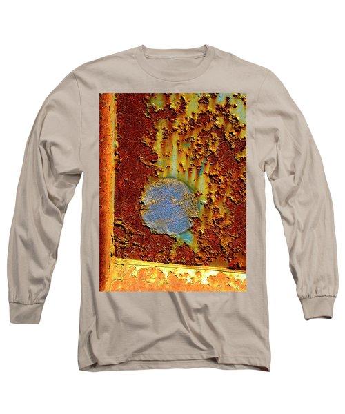 Blue Dot Metal Long Sleeve T-Shirt