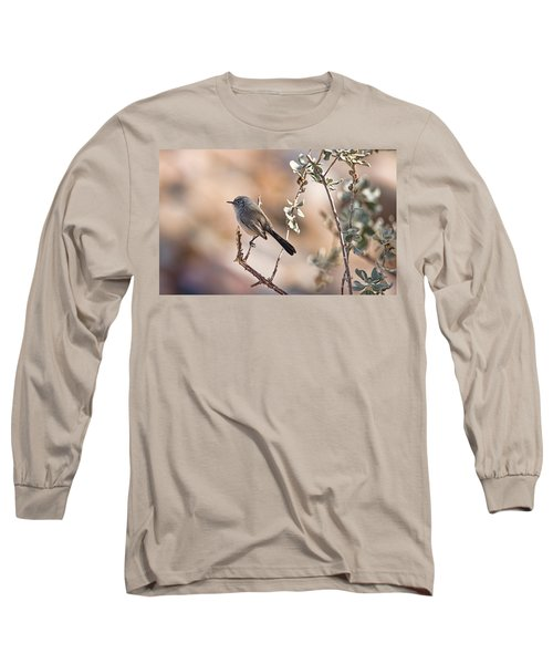 Long Sleeve T-Shirt featuring the photograph Black-tailed Gnatcatcher by Dan McManus