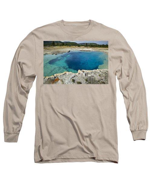 Blue Hot Springs Yellowstone National Park Long Sleeve T-Shirt