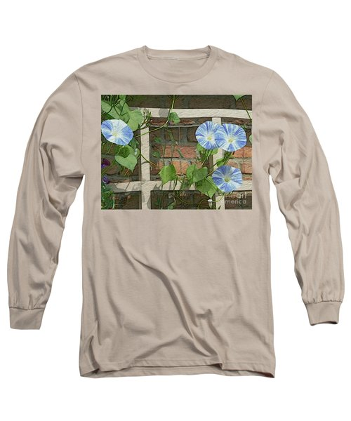 Blue Morning Glories Long Sleeve T-Shirt