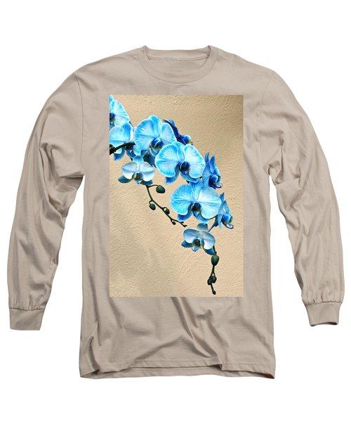 Blue Mystique Orchid Long Sleeve T-Shirt