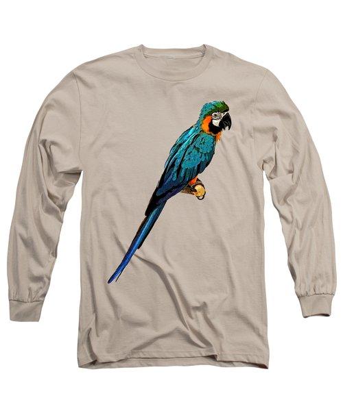 Blue Parrot Art Long Sleeve T-Shirt