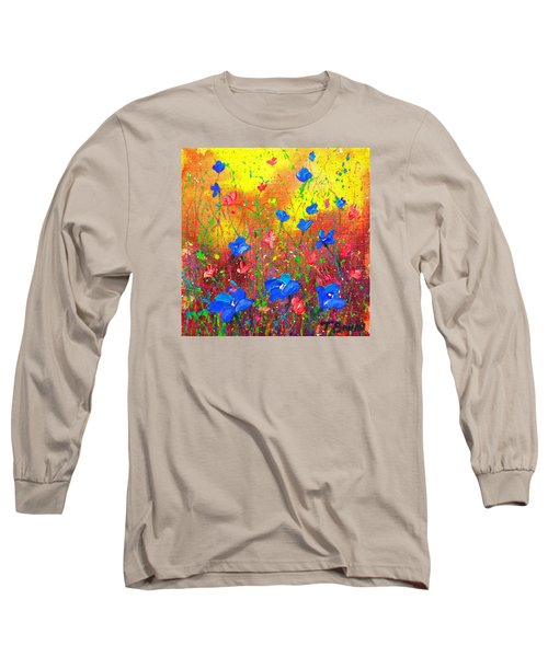 Blue Posies Long Sleeve T-Shirt