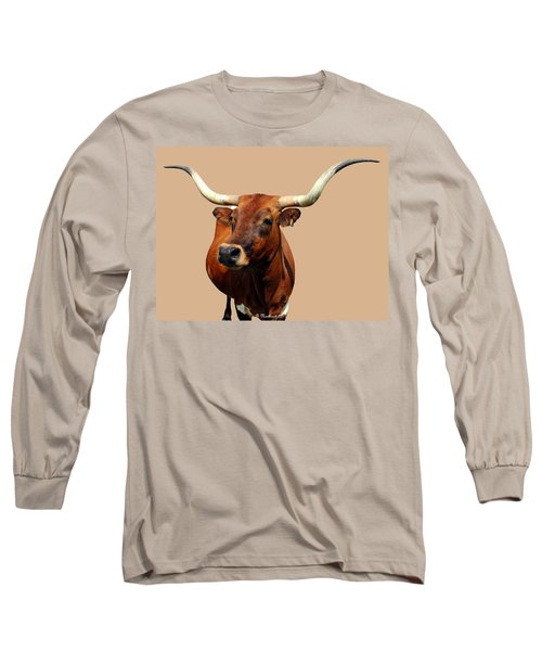 Blue Ribbon Pose Long Sleeve T-Shirt