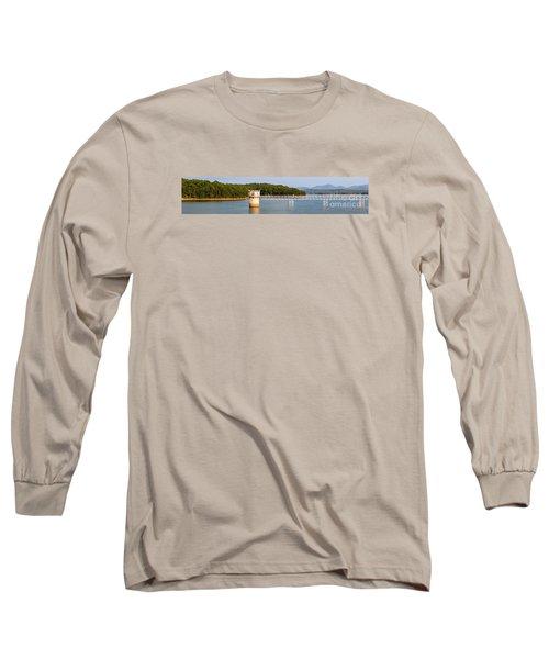 Blue Ridge Dam - Panoramic Long Sleeve T-Shirt by Michael Waters