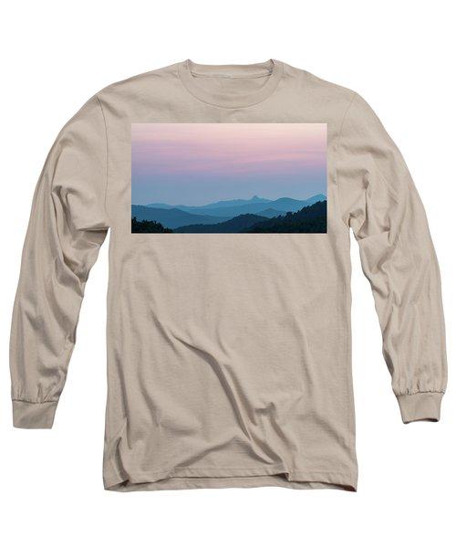 Blue Ridge Mountains After Sunset Long Sleeve T-Shirt