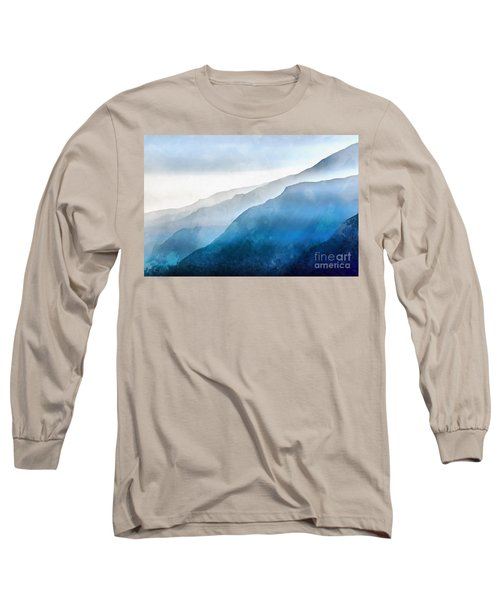Long Sleeve T-Shirt featuring the painting Blue Ridge Mountians by Edward Fielding
