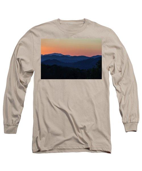 Blue Ridge Sunset Long Sleeve T-Shirt