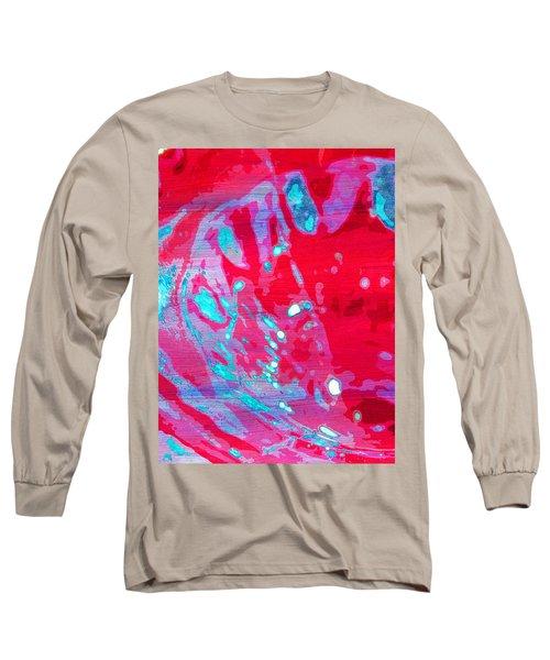 Blue Splash Long Sleeve T-Shirt by Samantha Thome
