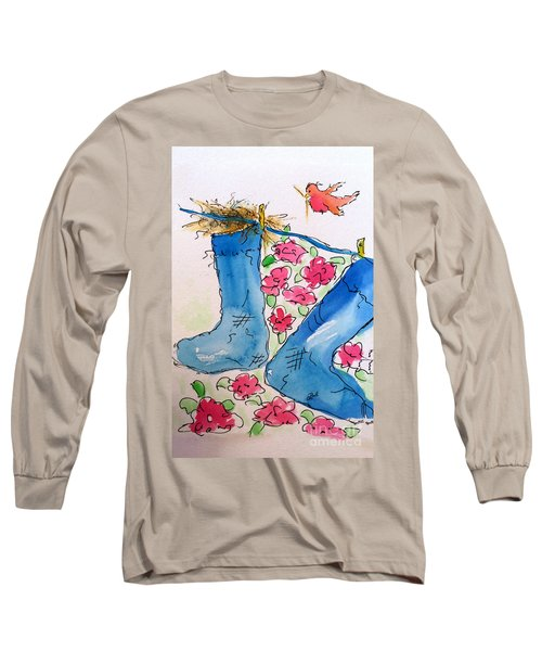 Blue Stockings Long Sleeve T-Shirt