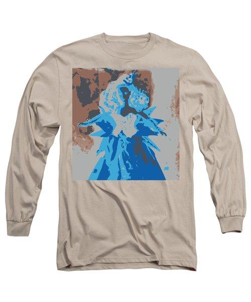 Blue Sunflower Barbie Long Sleeve T-Shirt by Karen J Shine