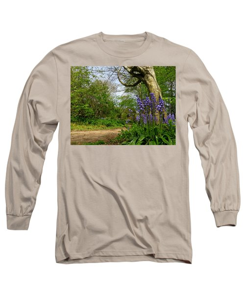 Bluebells By The Tree Long Sleeve T-Shirt