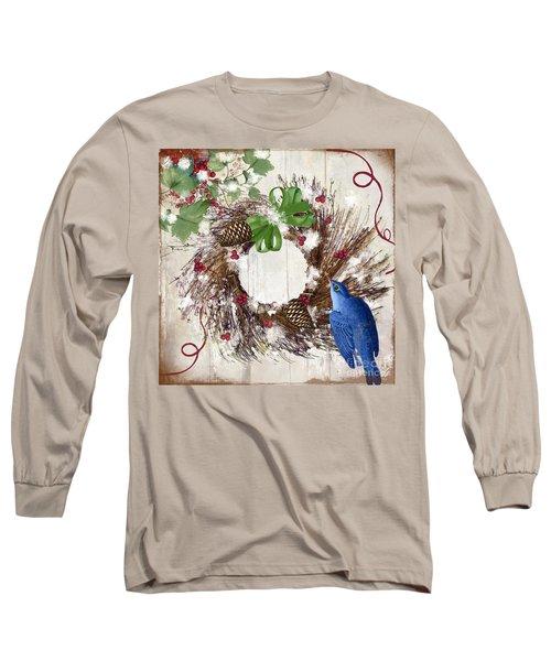 Bluebird Christmas II Long Sleeve T-Shirt