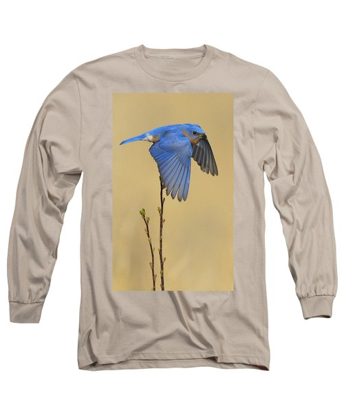 Bluebird Takes Flight Long Sleeve T-Shirt