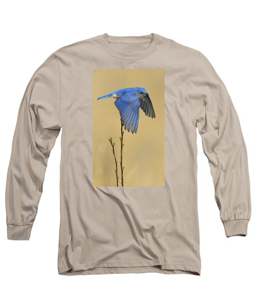 Bluebird Takes Flight Long Sleeve T-Shirt