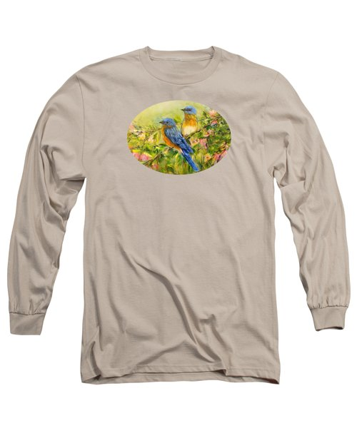 Bluebirds For T-shirts And Accessories Long Sleeve T-Shirt by Loretta Luglio