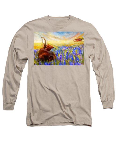 Bluebonnet Dream - Bluebonnet Paintings Long Sleeve T-Shirt