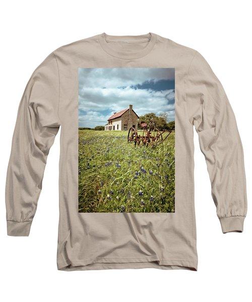 Long Sleeve T-Shirt featuring the photograph Bluebonnet Fields by Linda Unger