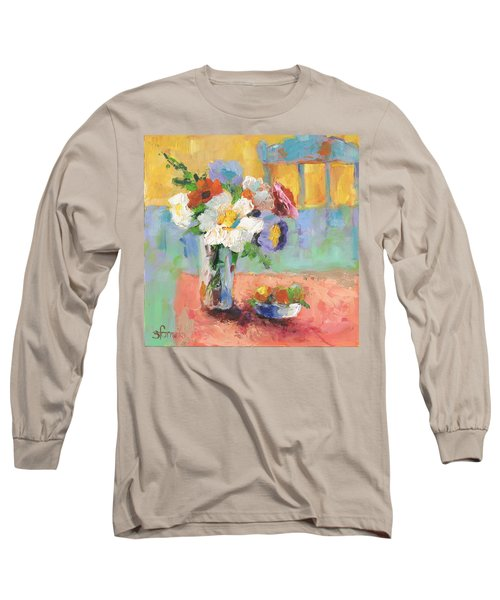 Blues Chair Long Sleeve T-Shirt by Sharon Furner