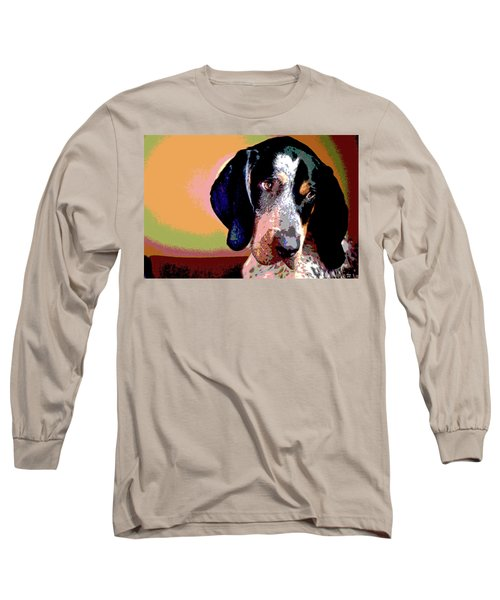 Bluetick Coonhound Long Sleeve T-Shirt by Charles Shoup