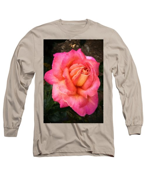Blushing Rose Long Sleeve T-Shirt
