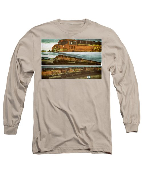 Bnsf 7682 Triptych  Long Sleeve T-Shirt
