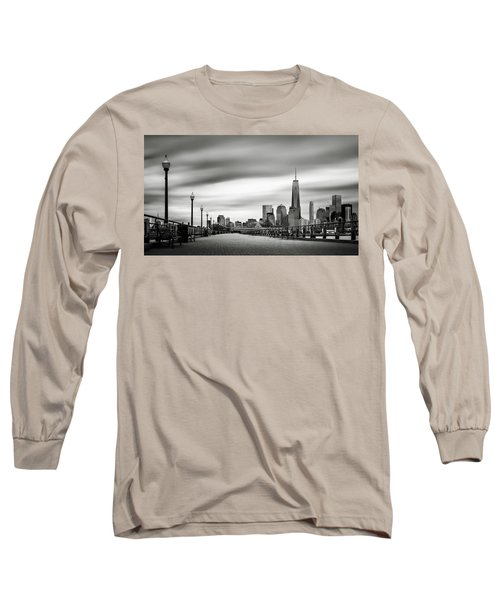 Boardwalk Into The City Long Sleeve T-Shirt by Eduard Moldoveanu