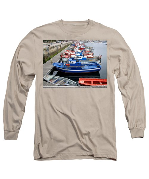 Long Sleeve T-Shirt featuring the photograph Boats In Norway by Joan  Minchak