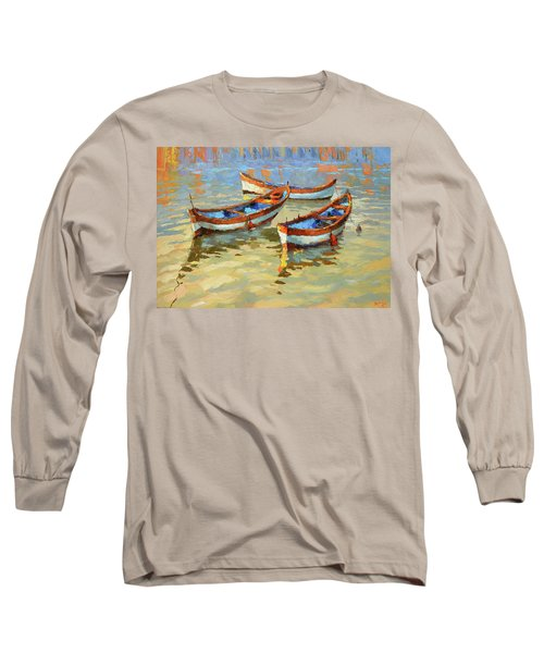 Boats In The Sunset Long Sleeve T-Shirt