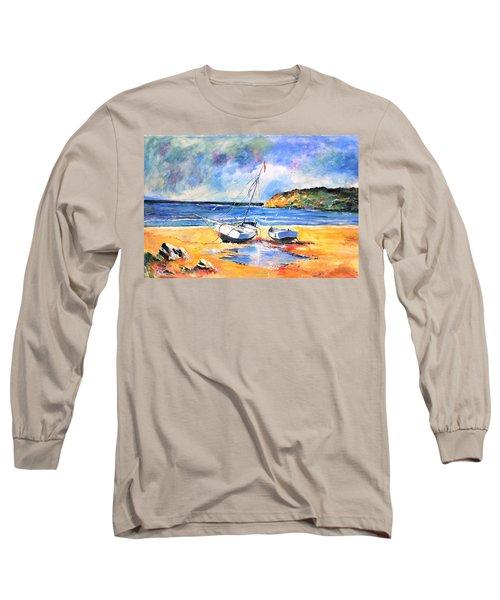 Boats On The Beach Long Sleeve T-Shirt