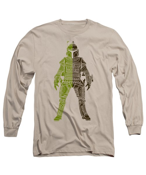 Boba Fett - Star Wars Art, Green 03 Long Sleeve T-Shirt