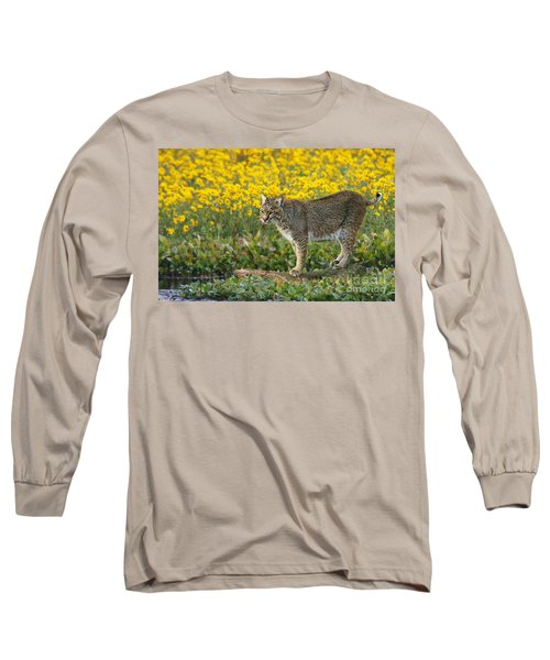 Bobcat In The Swamp Long Sleeve T-Shirt