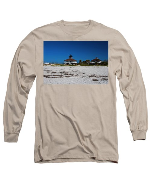 Long Sleeve T-Shirt featuring the photograph Boca Grande Lighthouse X by Michiale Schneider