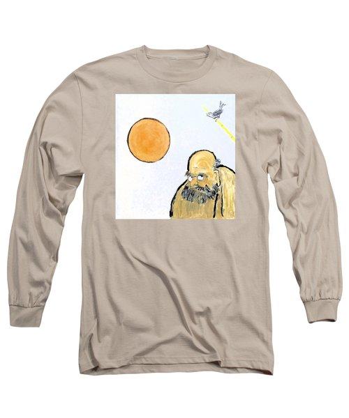 Bodhidharma Musing Silence Long Sleeve T-Shirt