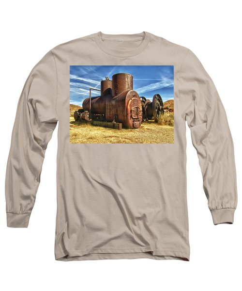 Old Boiler Bodie State Park Long Sleeve T-Shirt by James Hammond